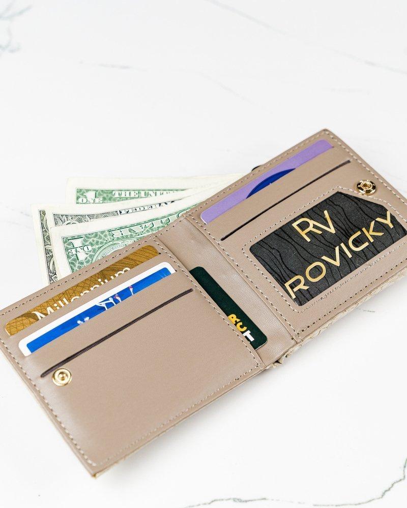 Béžová hadia dámska peňaženka v darčekovej krabičke MILANO DESIGN