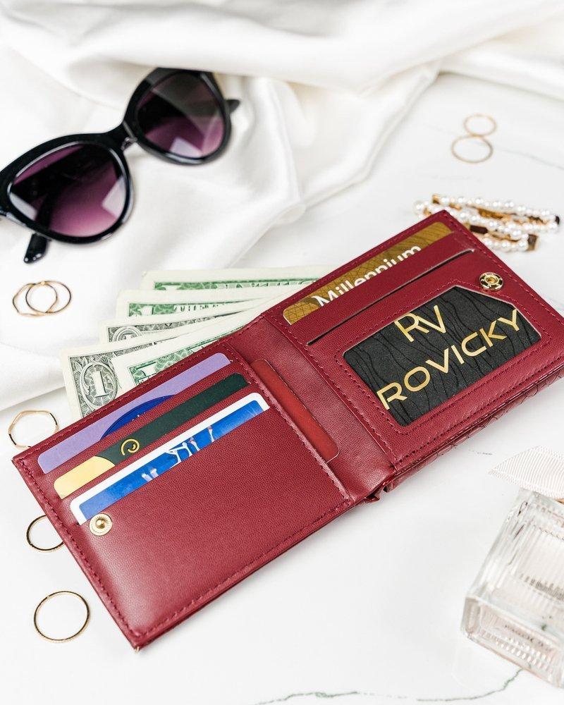 Červená hadí dámská peněženka v dárkové krabičce MILANO DESIGN