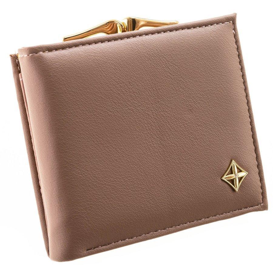Camel hnědá matná dámská peněženka v dárkové krabičce MILANO DESIGN