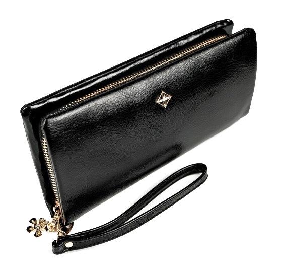 Černá dámská peněženka s obvodovým zipem v krabičce MILANO DESIGN