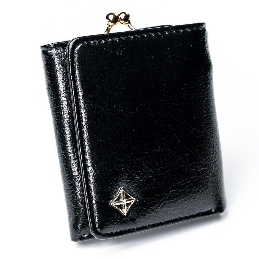 Čierna menšia dámska peňaženka v darčekovej krabičke MILANO DESIGN
