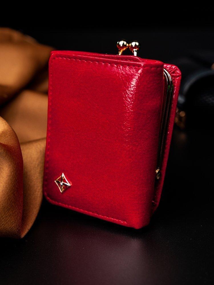 Červená menší dámská peněženka v dárkové krabičce MILANO DESIGN