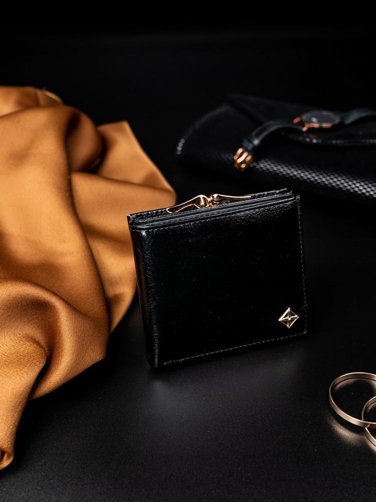 Štýlová čierna dámska peňaženka v darčekovej krabičke MILANO DESIGN
