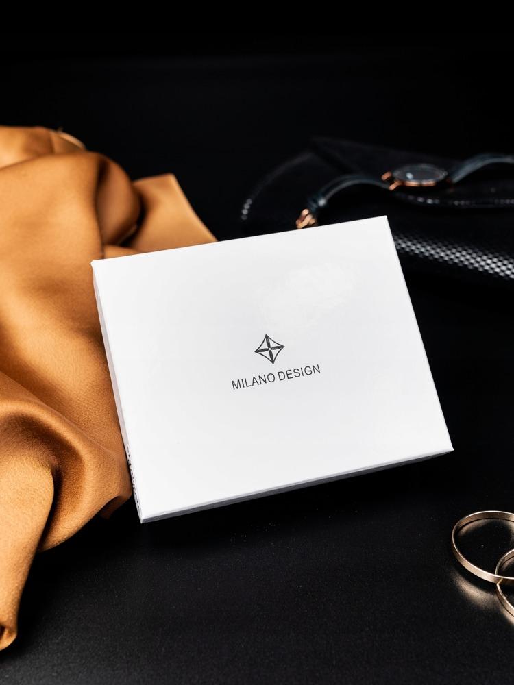Stylová černá dámská peněženka v dárkové krabičce MILANO DESIGN