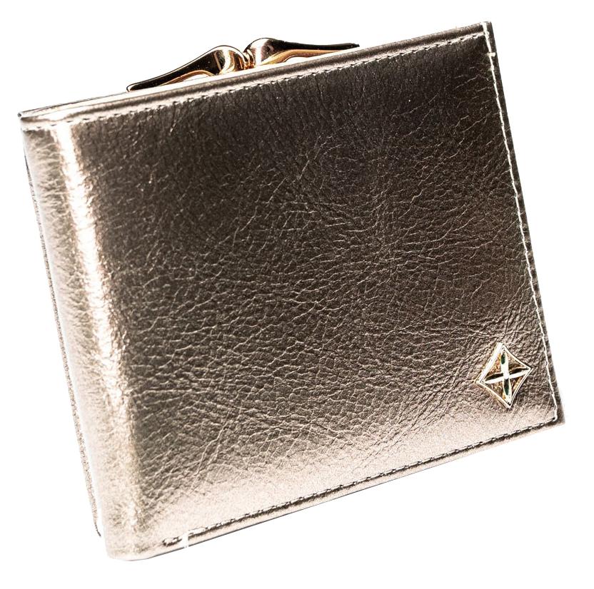 Štýlová zlatá dámska peňaženka v darčekovej krabičke MILANO DESIGN