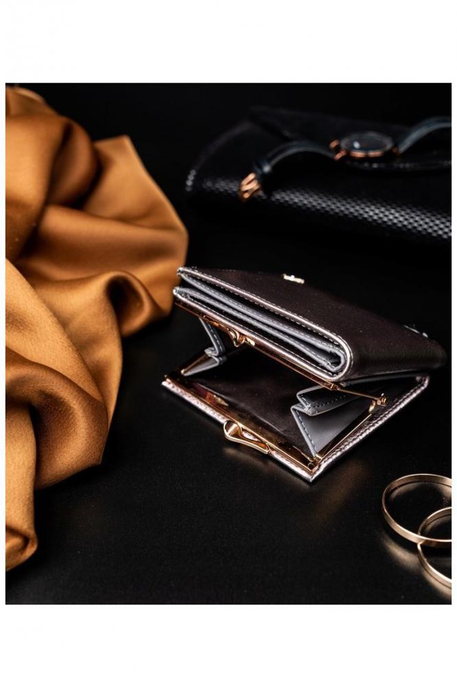 Štýlová strieborná dámska peňaženka v darčekovej krabičke MILANO DESIGN
