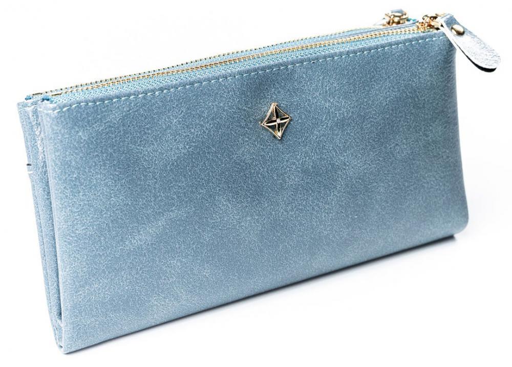 Priestranná modrá dámska peňaženka v krabičke MILANO DESIGN