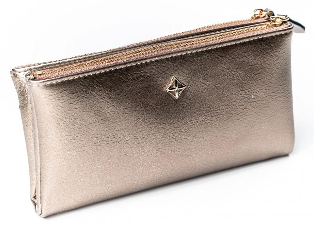 Priestranná zlatá dámska peňaženka v krabičke MILANO DESIGN