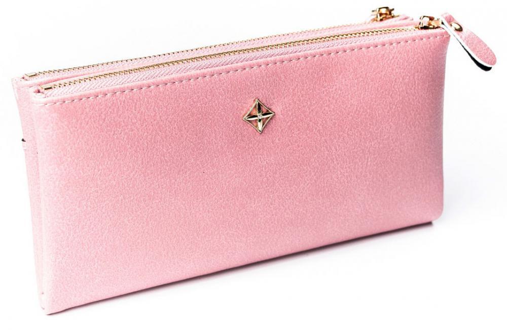 Priestranná ružová dámska peňaženka v krabičke MILANO DESIGN