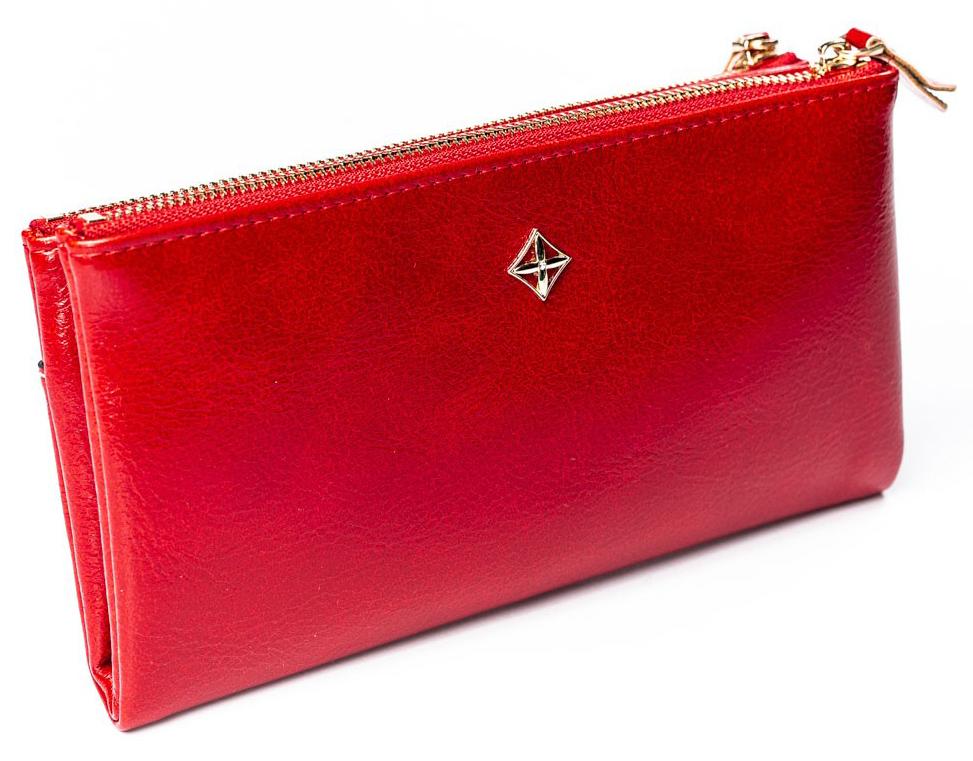 Priestranná červená dámska peňaženka v krabičke MILANO DESIGN