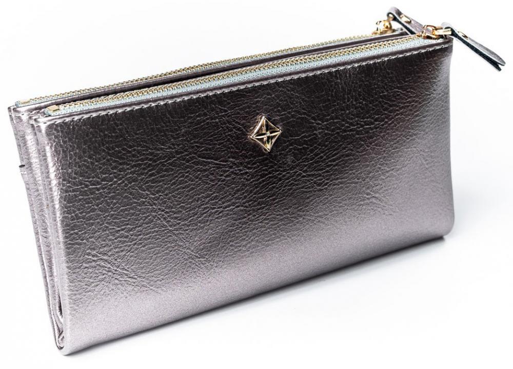 Priestranná strieborná dámska peňaženka v krabičke MILANO DESIGN