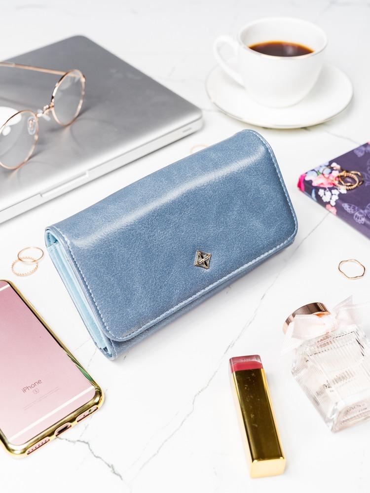 Modrá dámska peňaženka v darčekovej krabičke MILANO DESIGN