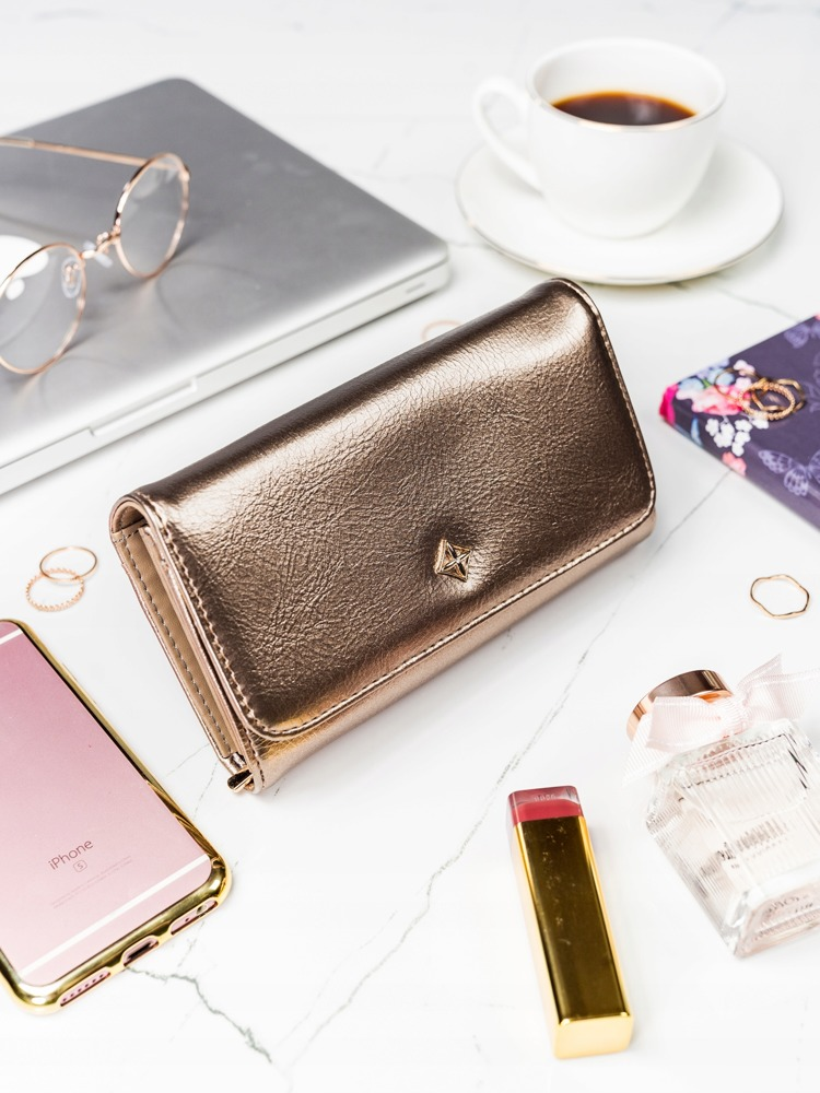 Zlatá dámská peněženka v dárkové krabičce MILANO DESIGN