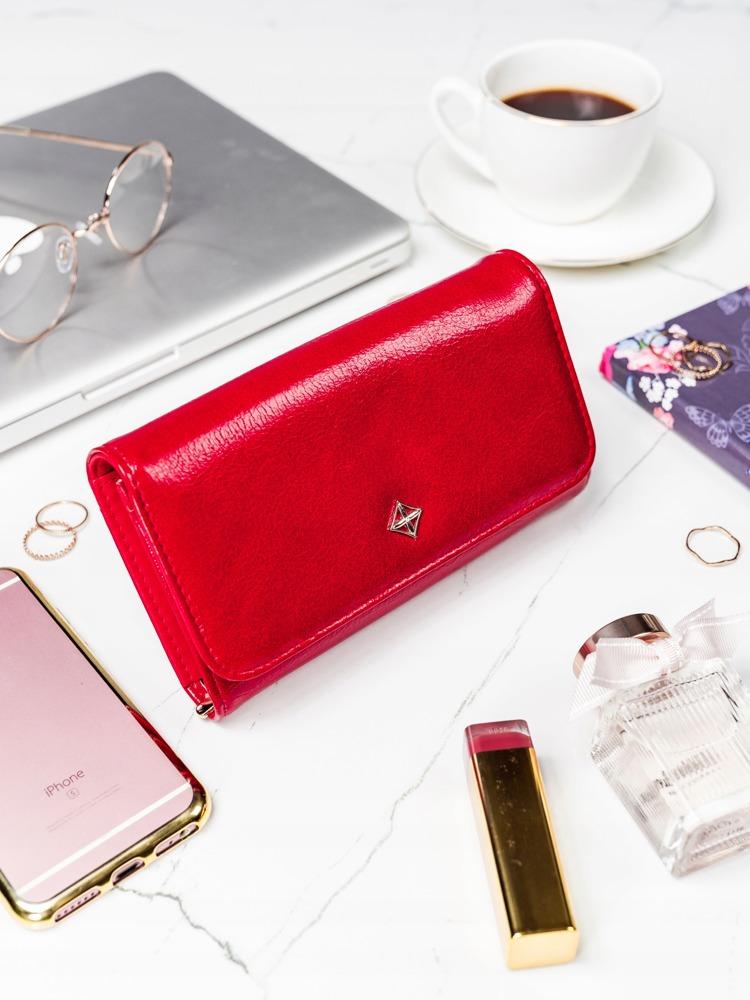 Červená dámska peňaženka v darčekovej krabičke MILANO DESIGN