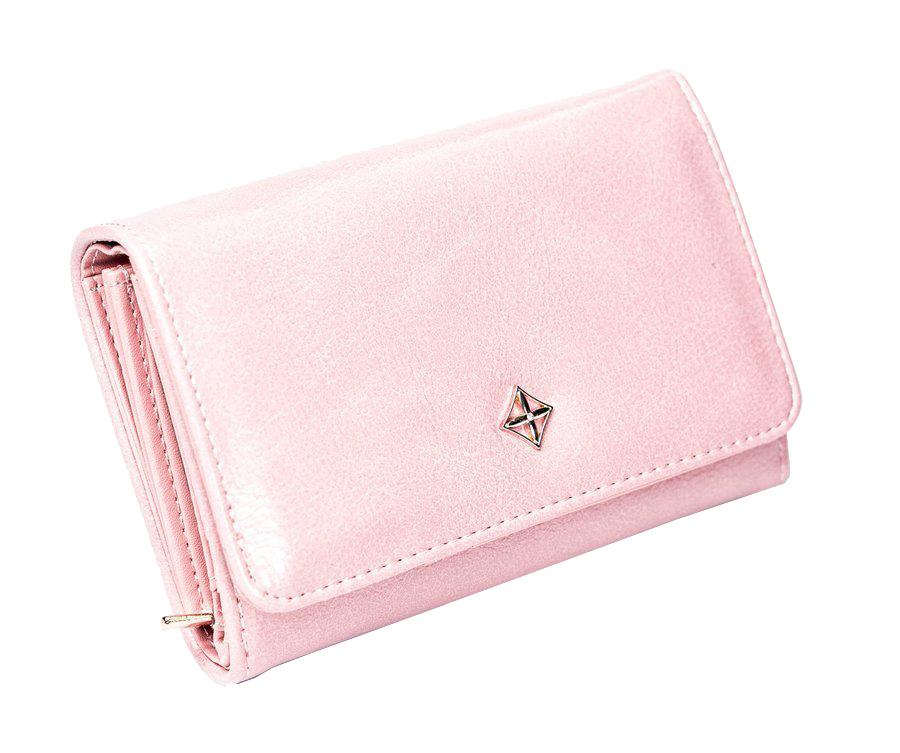 Růžová dámská peněženka v dárkové krabičce MILANO DESIGN