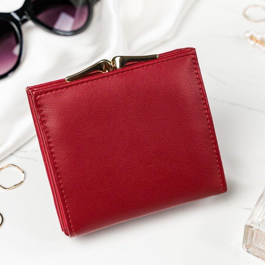 Červená matná dámska peňaženka v darčekovej krabičke MILANO DESIGN