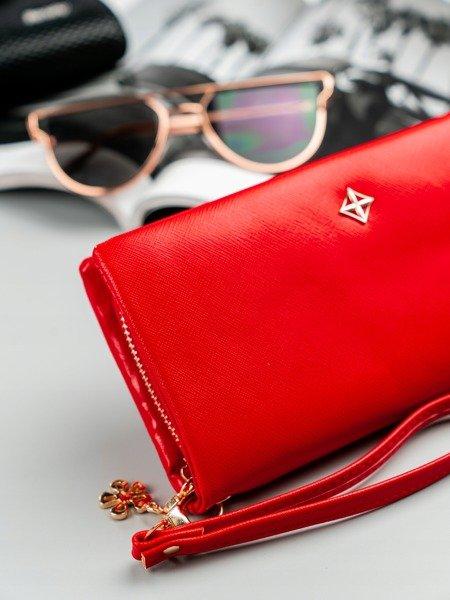 Červená dámská peněženka s obvodovým zipem v krabičce MILANO DESIGN