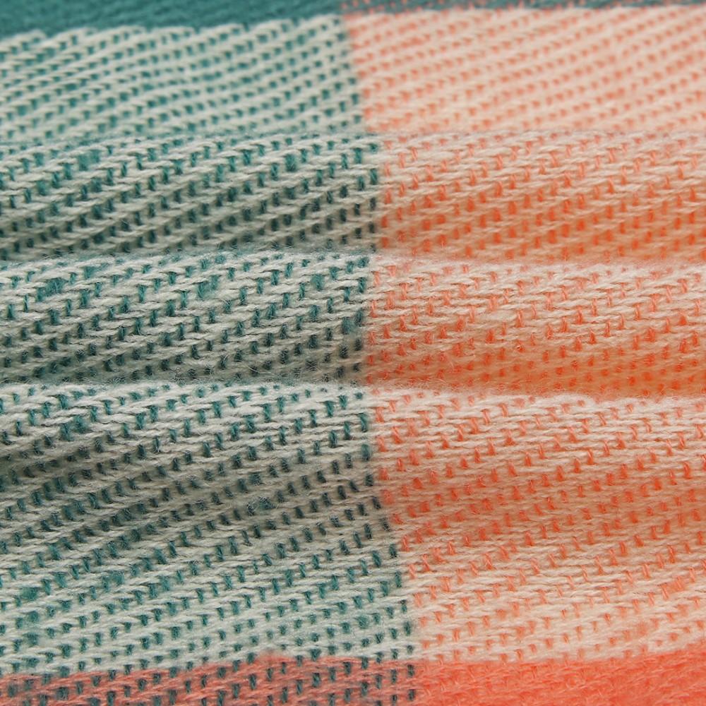 Farebný módny teplý dámsky dlhý šál S6430 zelený