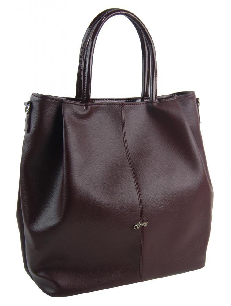 Prostorná dámská kabelka S737 bordó GROSSO