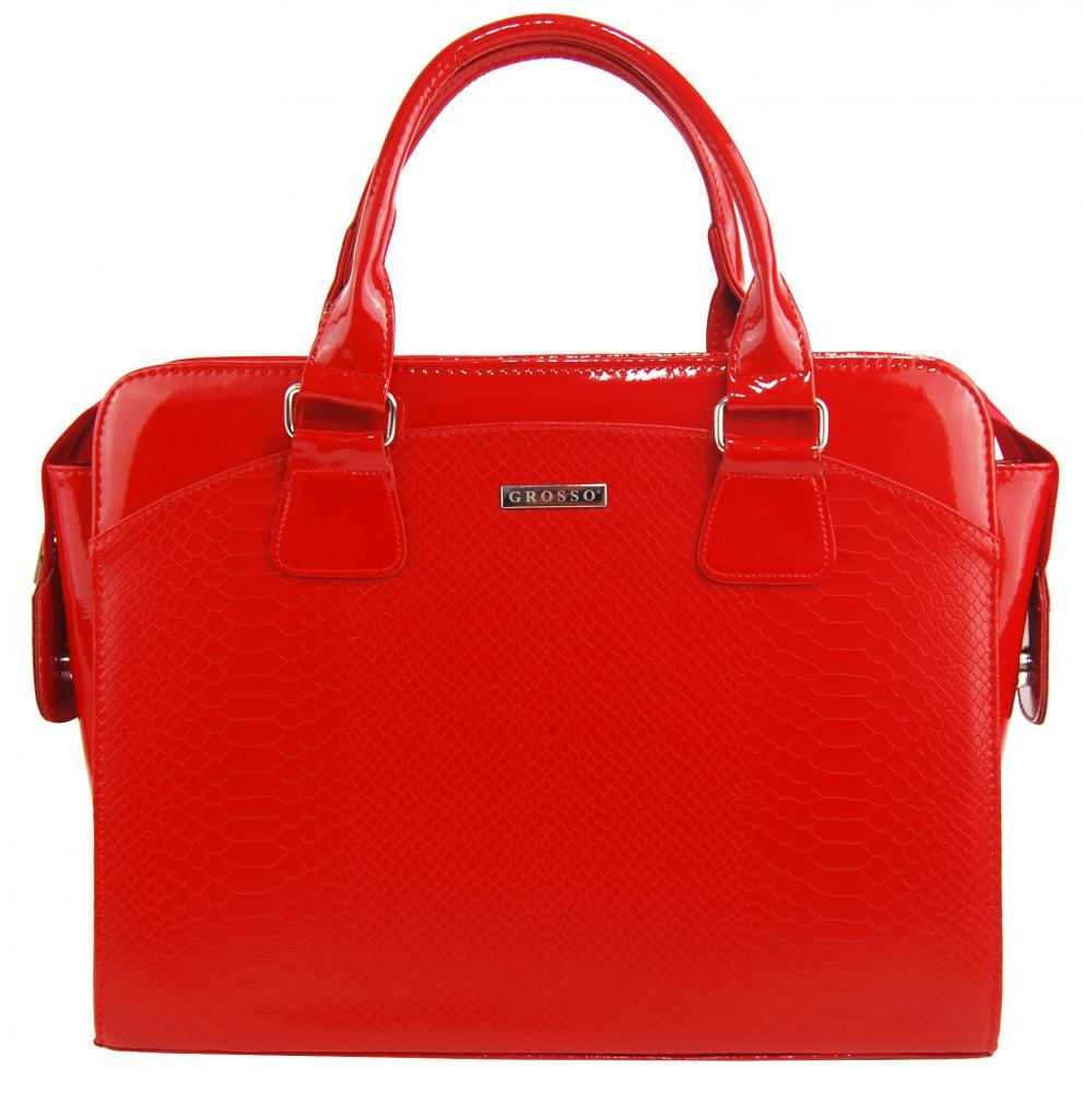 """Dámská elegantní taška na notebook červený lak ST01 15.6"""" GROSSO"""