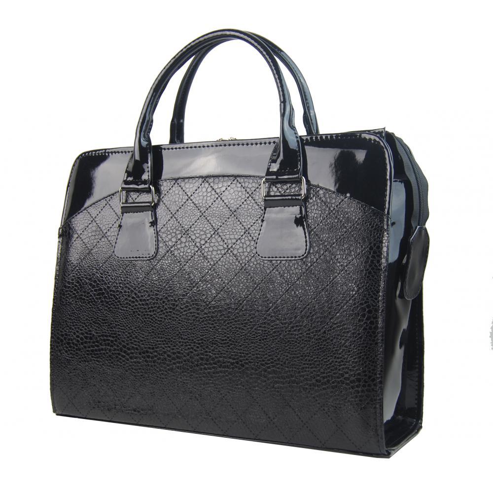 PUNCE LC-01 čierna hadia dámska kabelka pre notebook do 15.6 palca