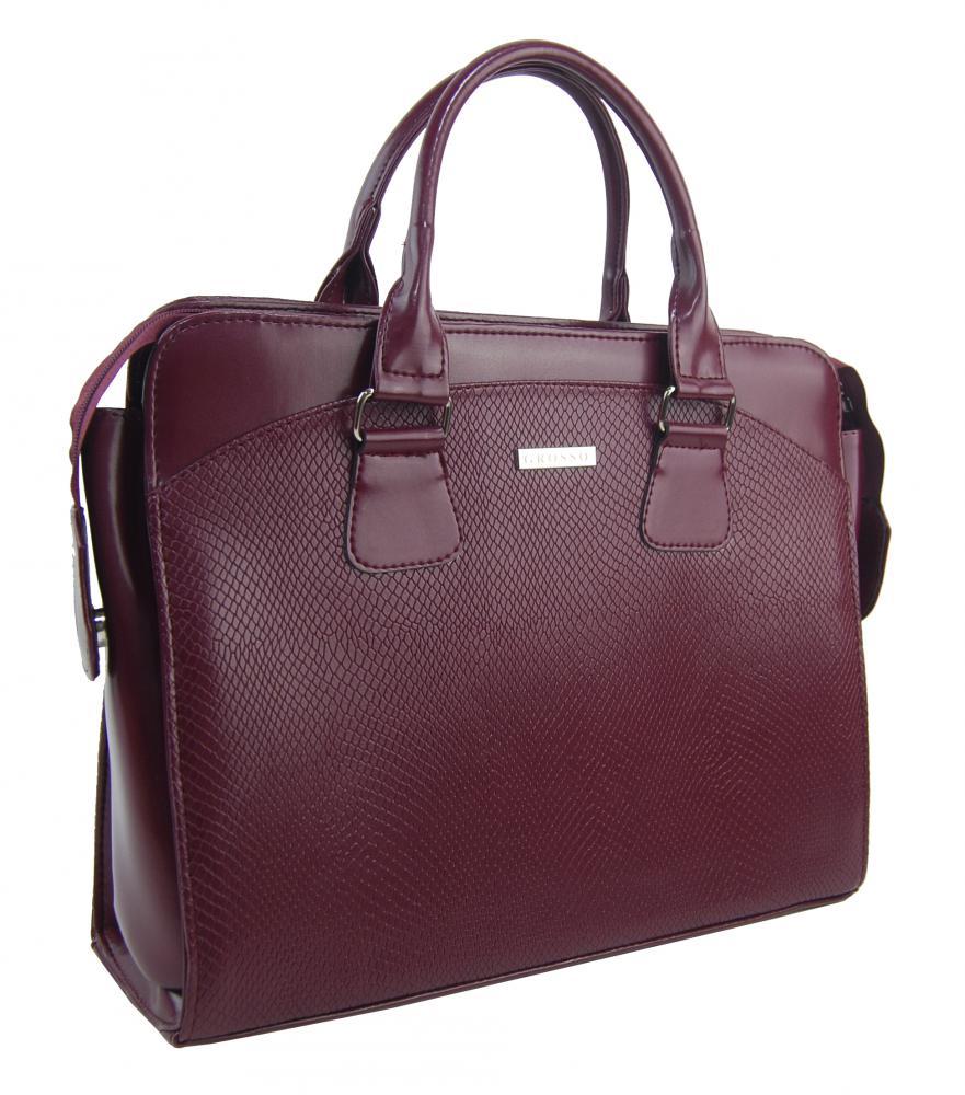 "Dámska luxusná taška na notebook bordó hadí mat ST01 15.6"" GROSSO"