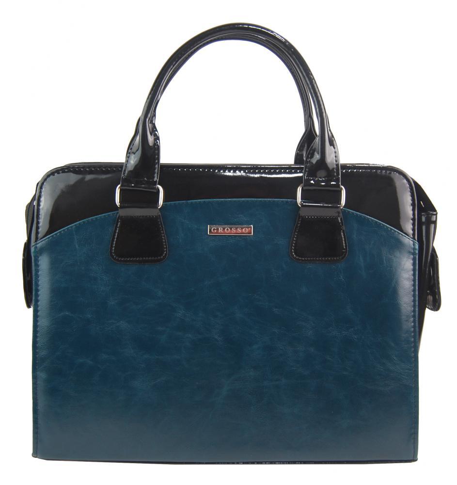 """Dámská elegantní taška na notebook modrá petrolejová ST01 15.6"""" GROSSO"""
