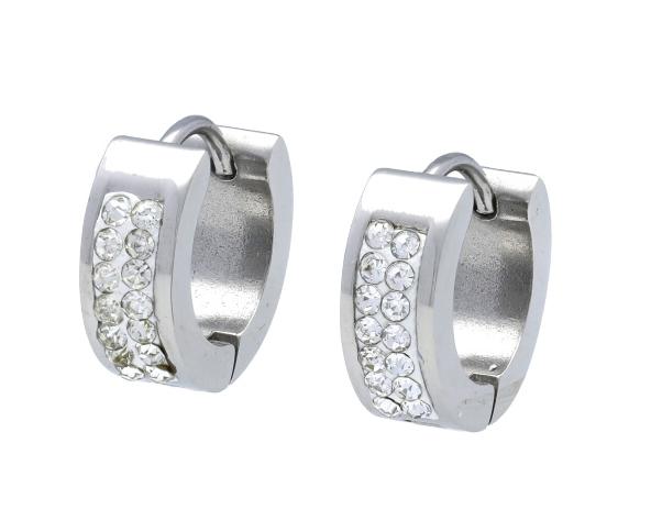 Dámské kroužkové náušnice stříbrná ocel NP046