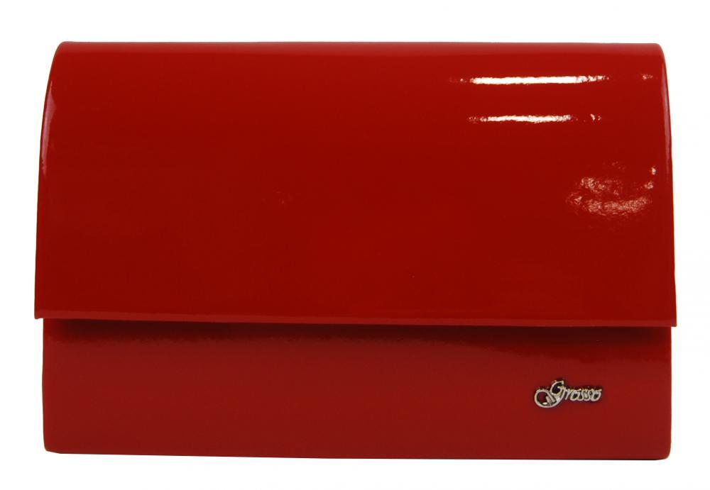 Červená lakovaná dámska listová kabelka SP101 GROSSO