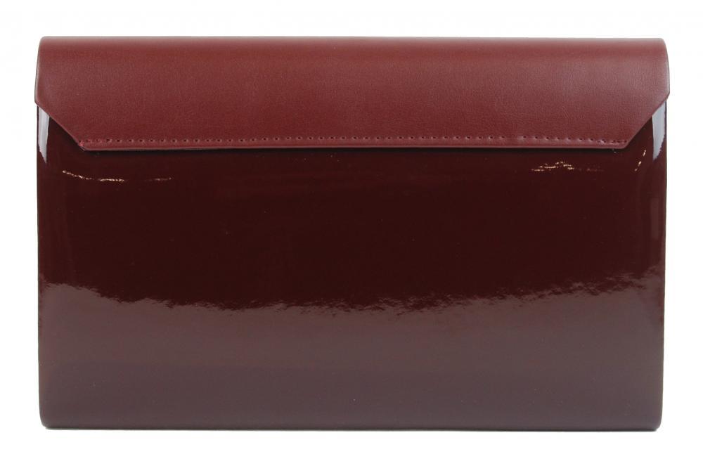 Luxusní bordové dámské psaníčko lak / mat SP100 GROSSO