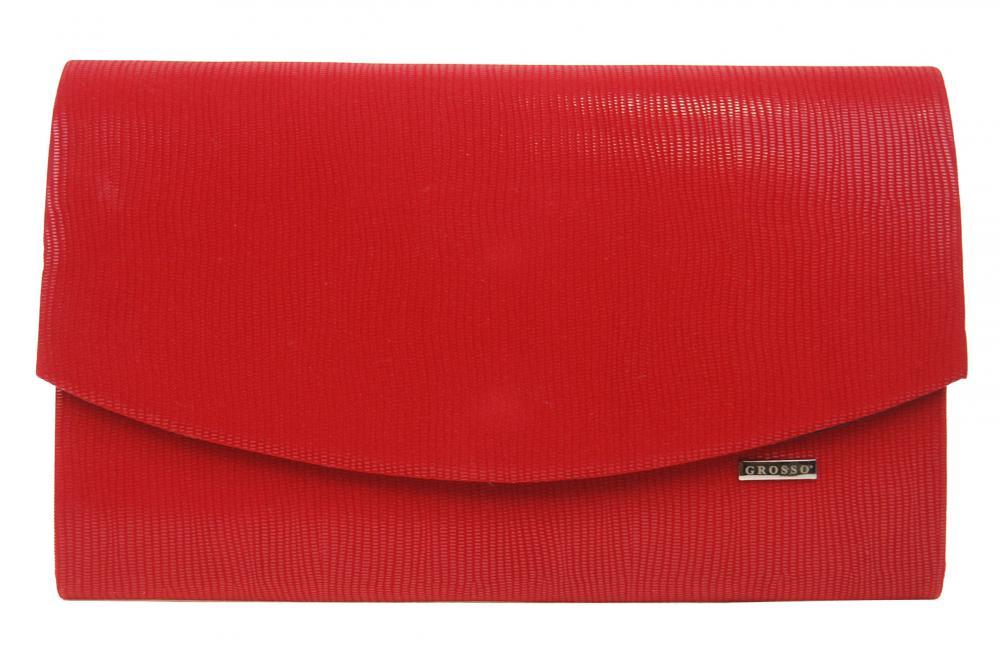 GROSSO červené matné dámské psaníčko SP128