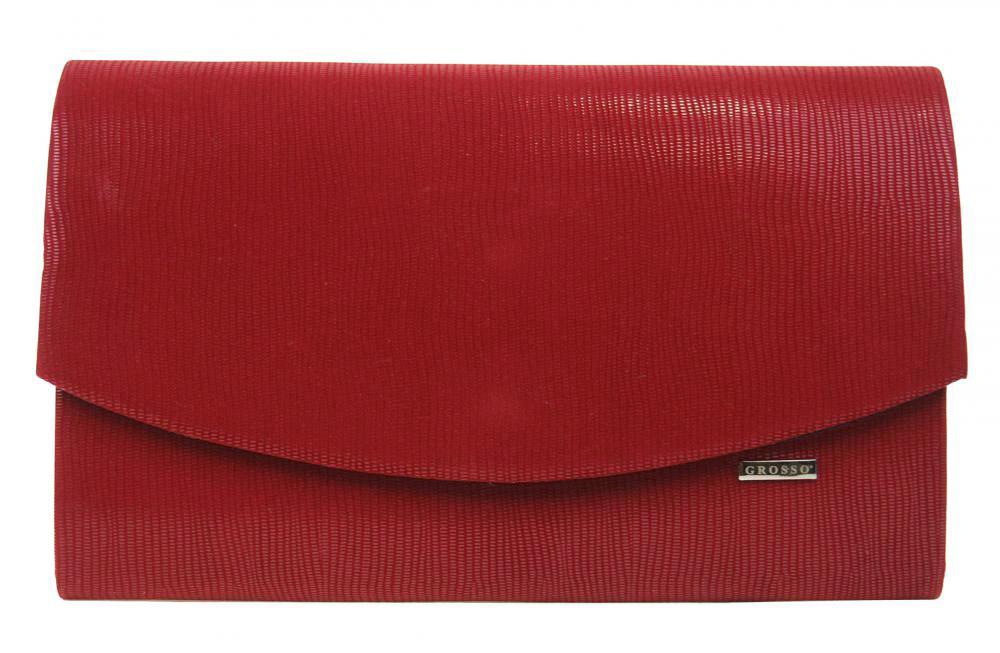Karmínově červené společenské dámské psaníčko SP128 GROSSO