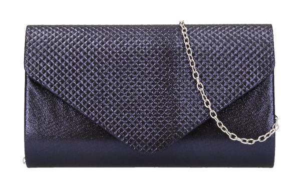 Tmavo modrá dámska listová kabelka na retiazke HL3158