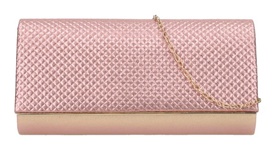 Ružovo-zlaté dámska listová kabelka na retiazke HL3159
