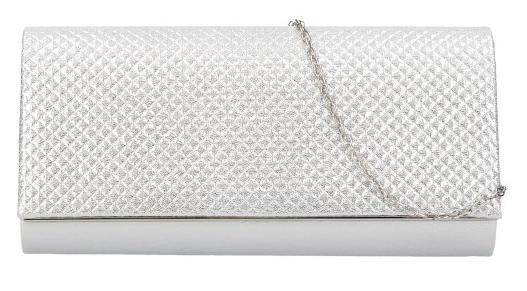 Strieborná dámska listová kabelka na retiazke HL3159