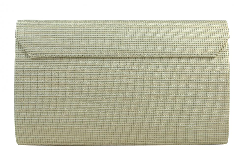 Luxusní béžové dámské psaníčko se zlatým nádechem SP126 GROSSO