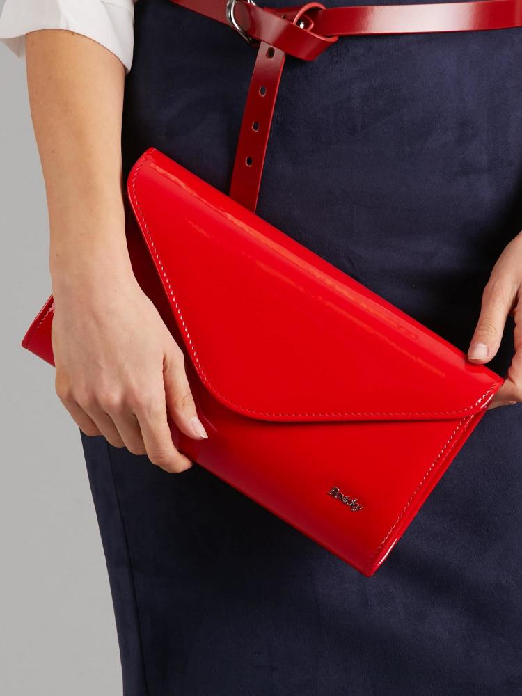 Červené lakované dámské psaníčko W25 ROVICKY