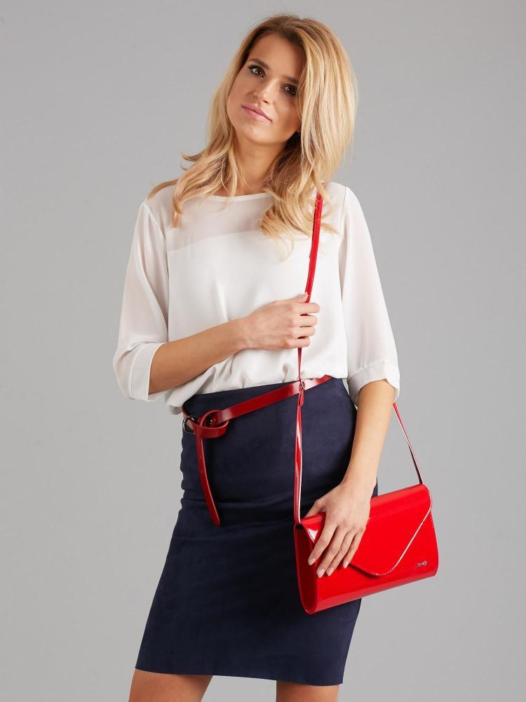 Červená lakovaná dámska listová kabelka W25 ROVICKY