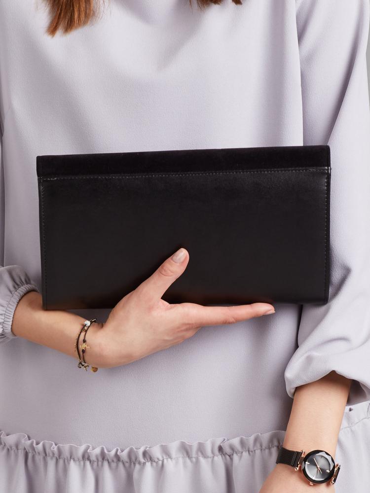 Čierna dámska listová kabelka W25 ROVICKY