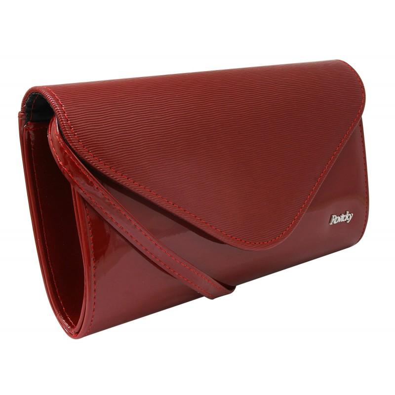Bordová lakovaná dámska listová kabelka W35 ROVICKY