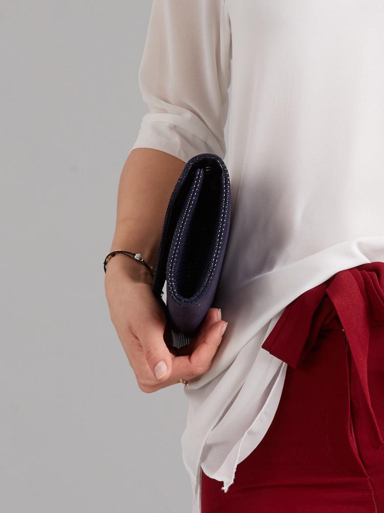 Modrá dámska listová kabelka W35 ROVICKY