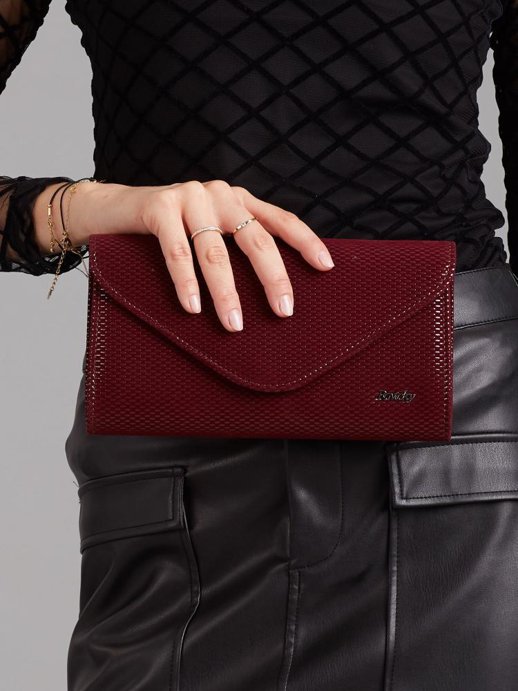Bordová dámska listová kabelka W35 ROVICKY