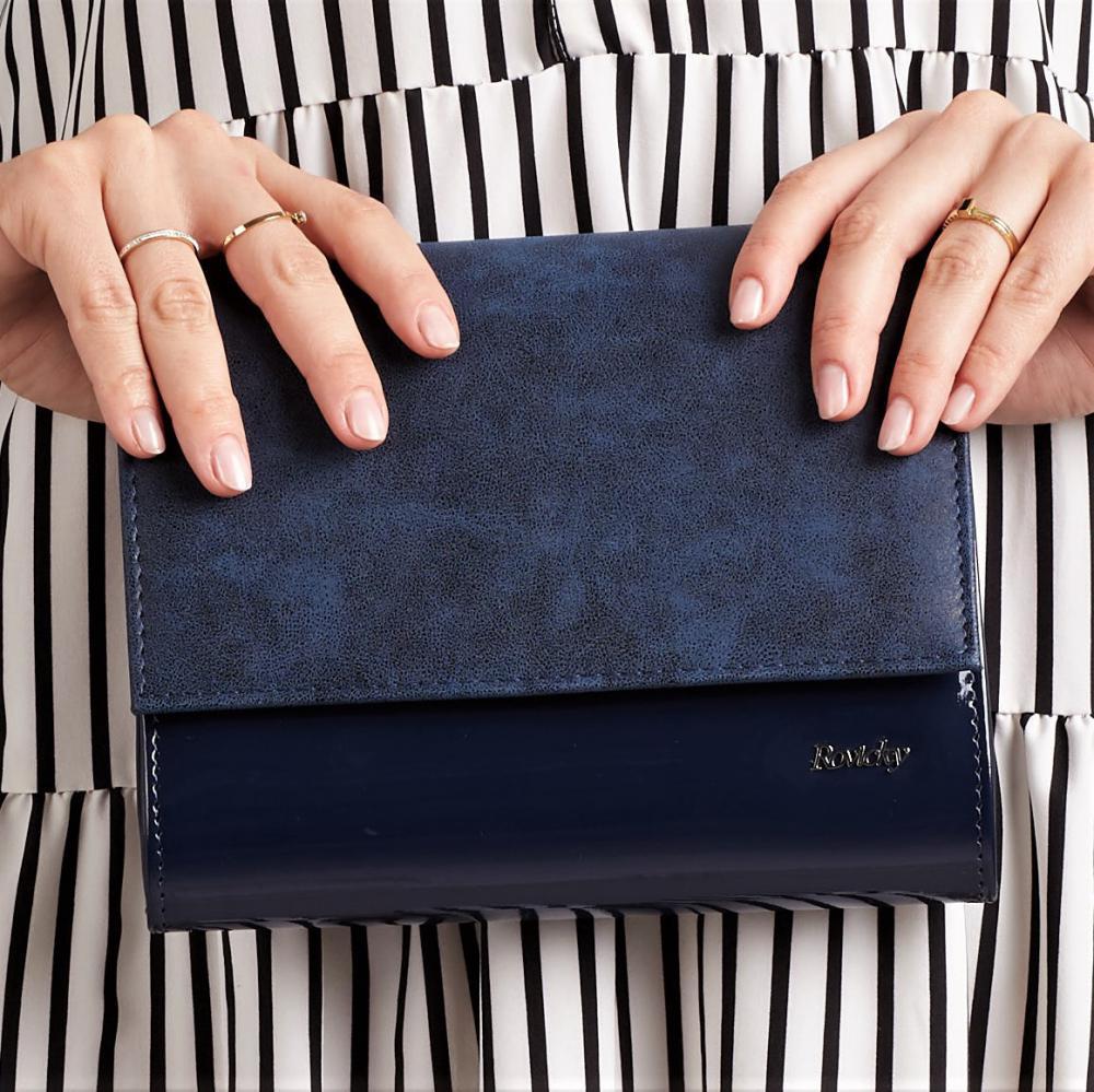 Modrá dámska listová kabelka W49 ROVICKY