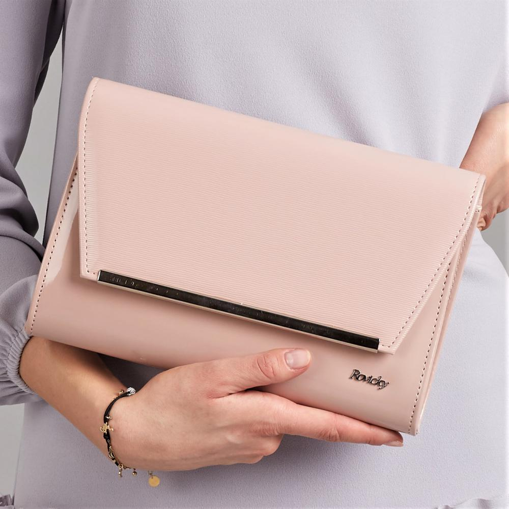 Púdrová lakovaná luxusná dámska listová kabelka W52 ROVICKY