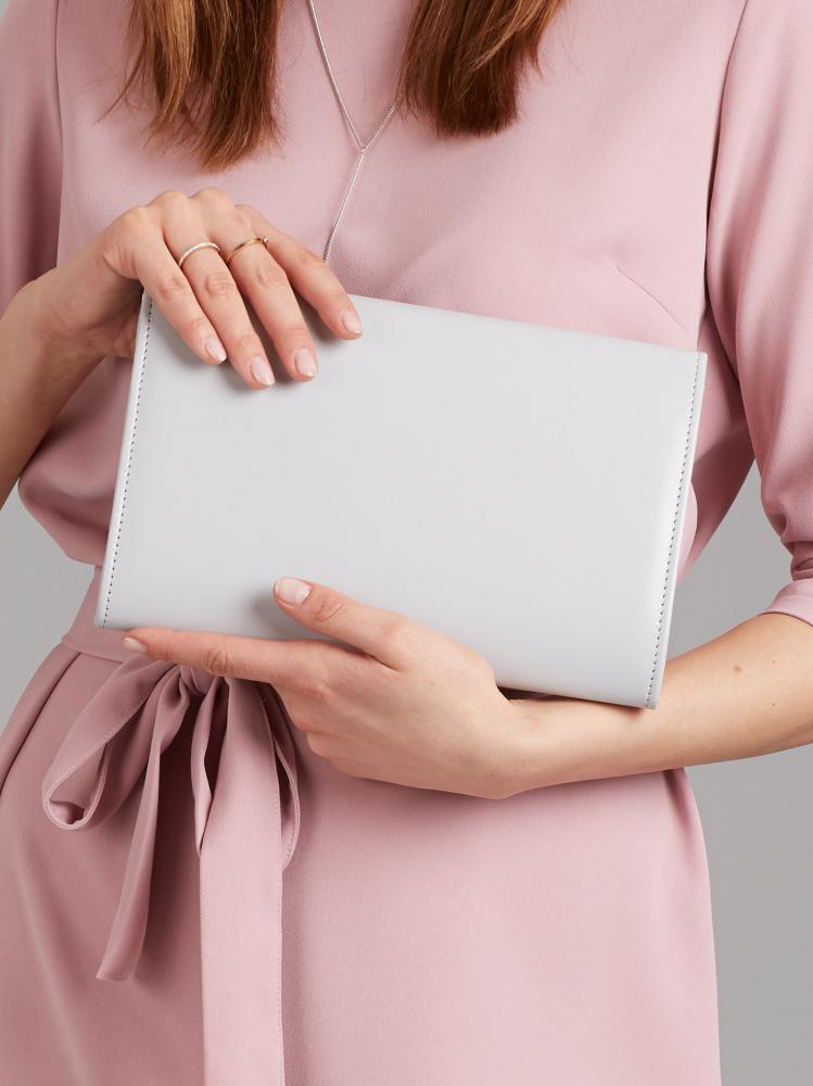 Šedé matné luxusní dámské psaníčko W52 ROVICKY