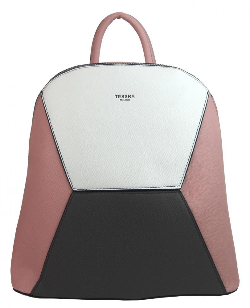 Ružový dámsky elegantný batôžtek 4187-TS