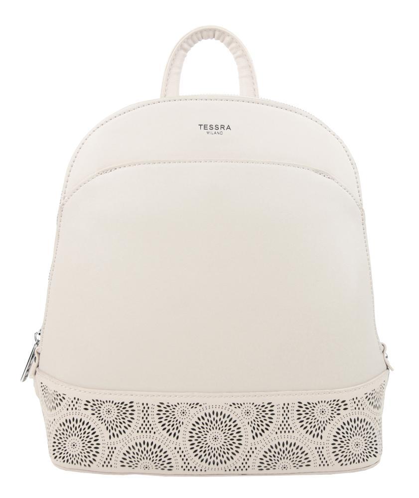 TESSRA 5234-TS Elegantný dámsky batoh / kabelka - Béžový