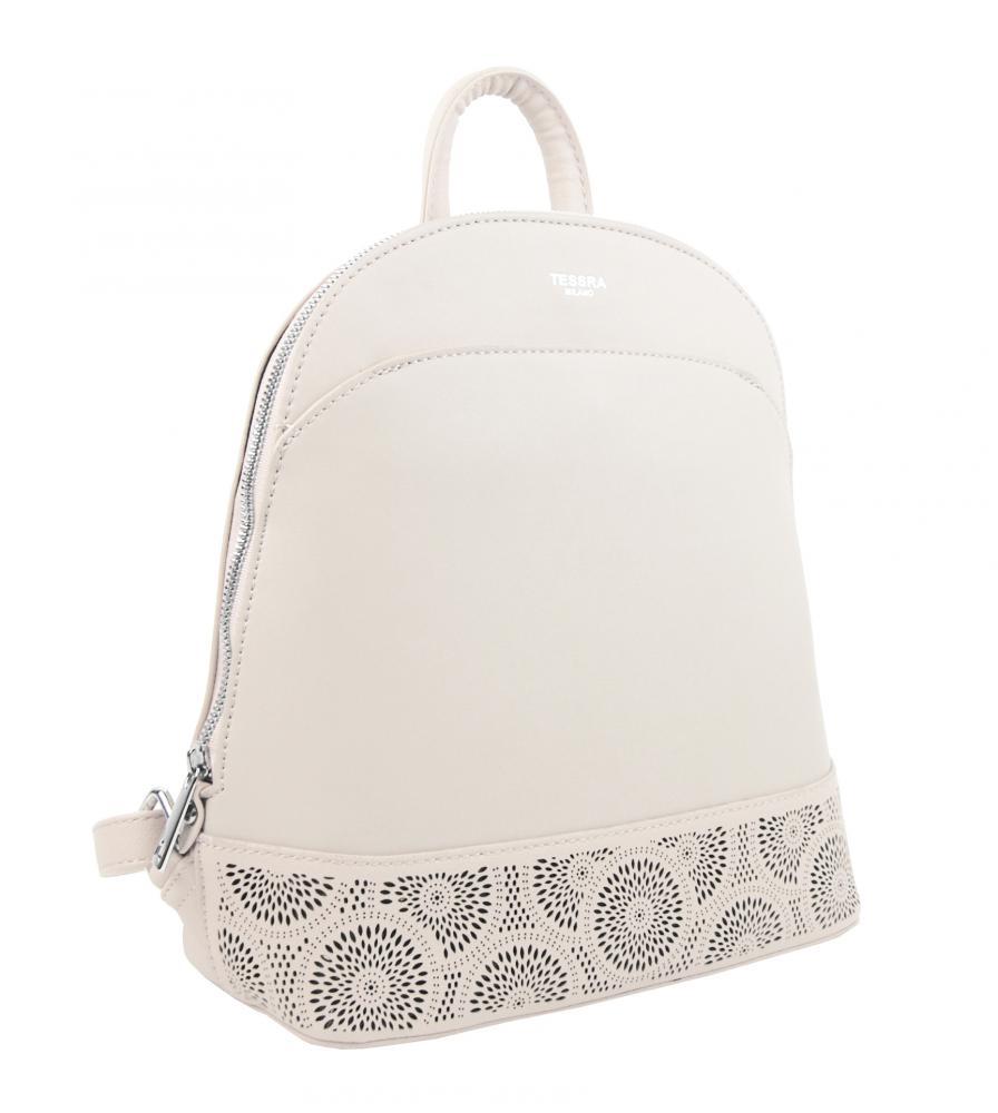 Béžový elegantní dámský batoh / kabelka 5234-TS