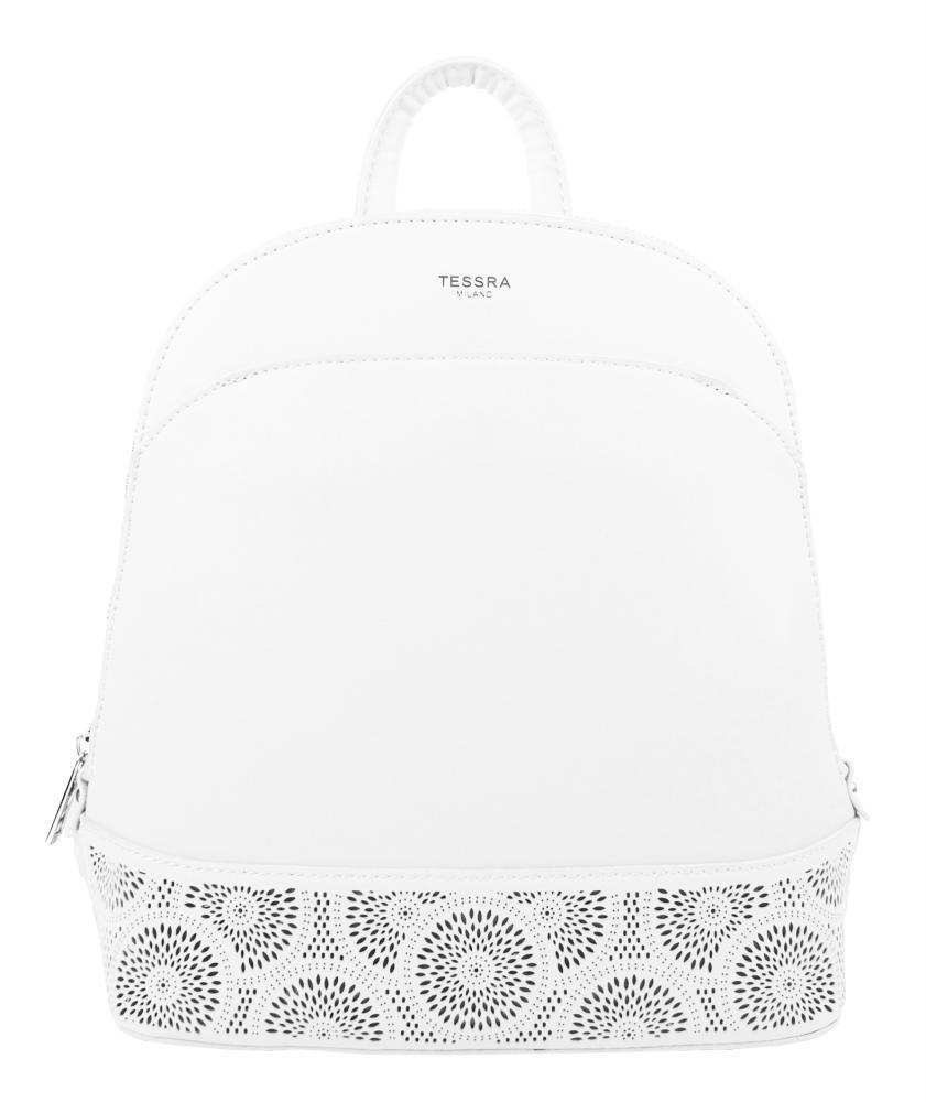 Bílý elegantní dámský batoh / kabelka 5234-TS