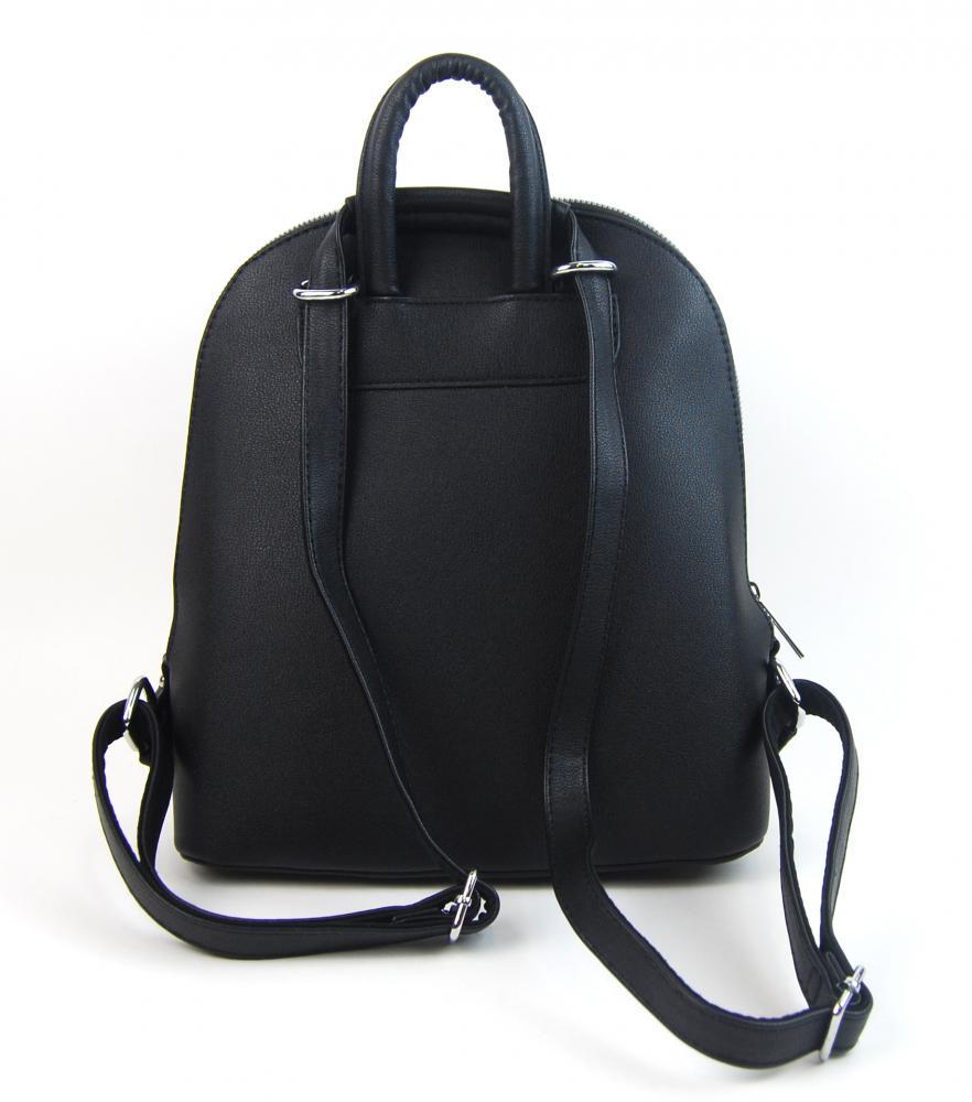 Čierny elegantný dámsky batoh / kabelka 5234-TS